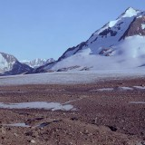 Valley glacier. Chugach Mountains, Wrangell St. Elias National Park.