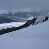 Confluence of the Rohn and Regal Glaciers (August 2011). Wrangell St. Elias National Park.