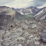 Un-named valley north of the Bremner Glacier. Wrangell St. Elias National Park.