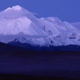 Dawn over Mt Brooks, elevation 3,628 m (11,903 ft), Alaska Range.